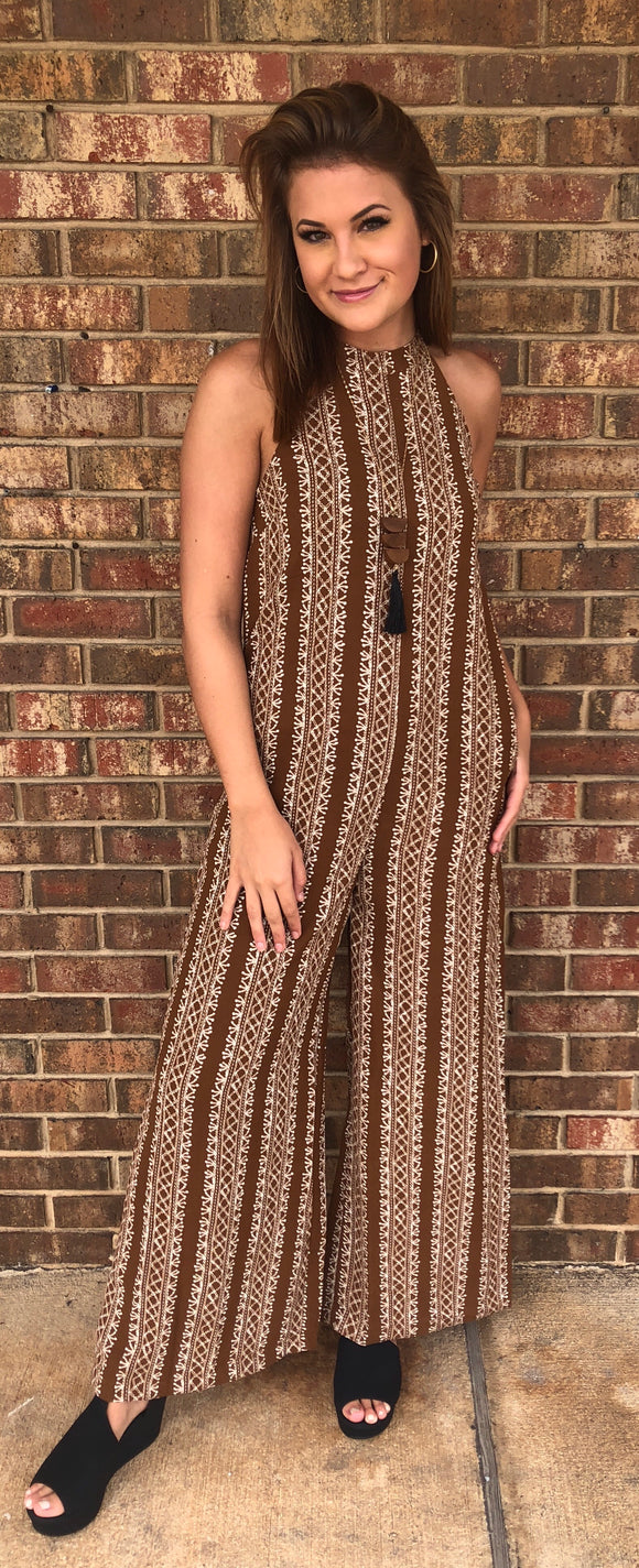 Tribal Halter Jumpsuit