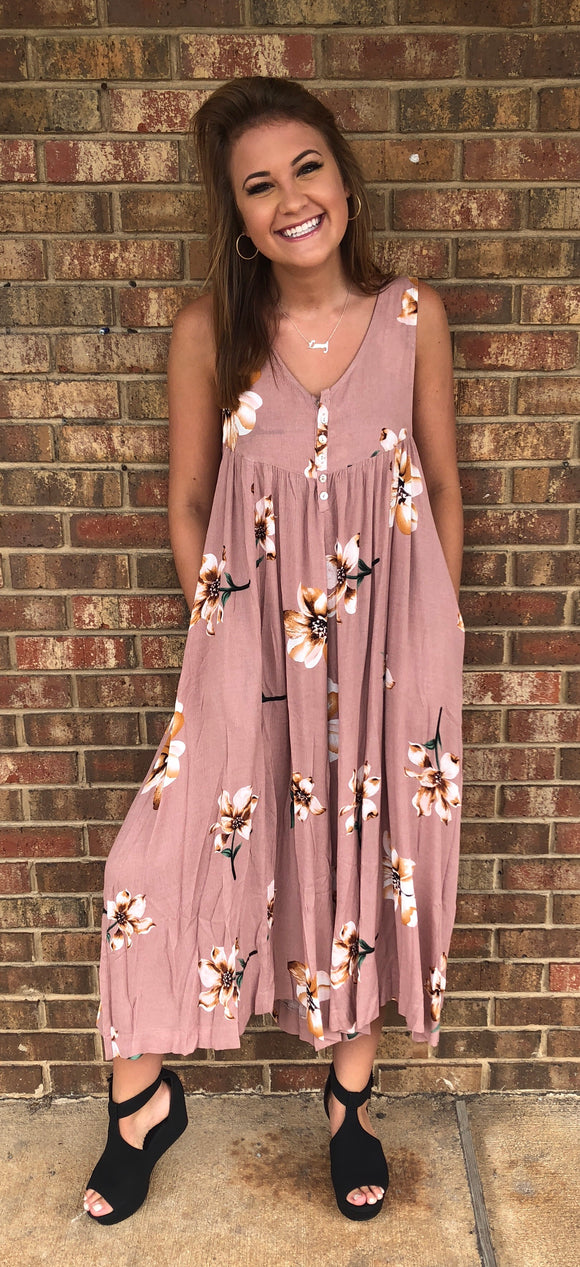 Colors of the Season Jumpsuit, Mauve