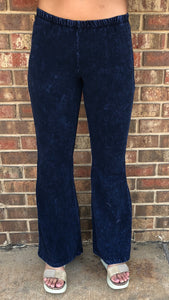 Dark Mineral Washed Bell Bottoms Plus