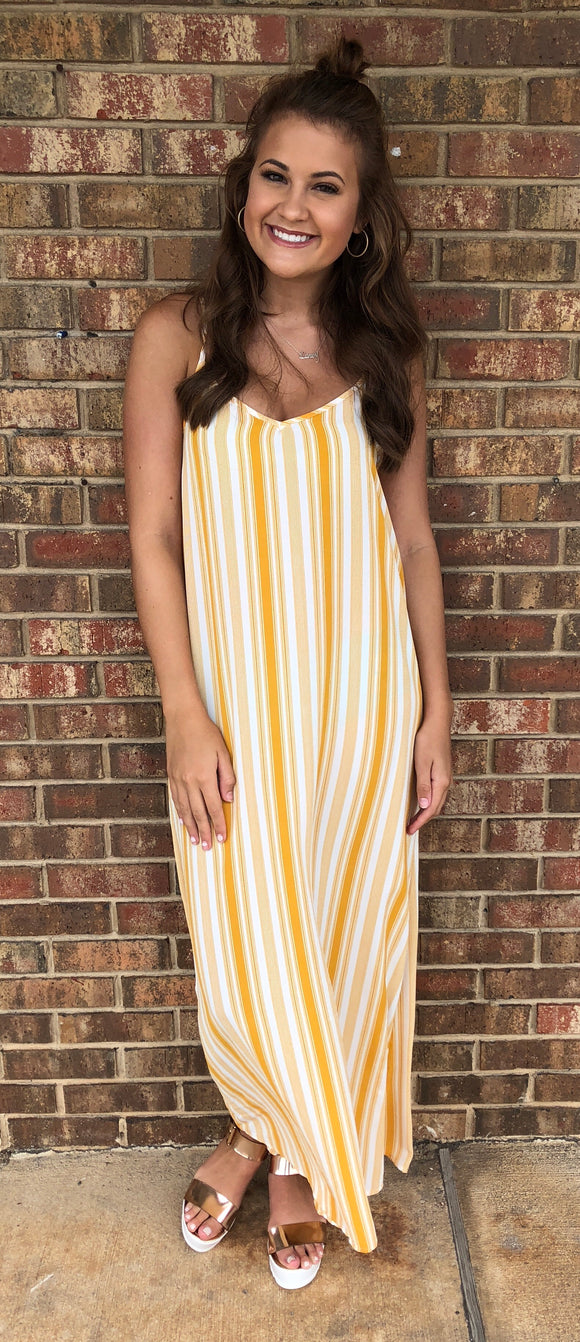 Mustard Stripes Dress