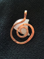 Large Handmade Spiral Copper Pendant Necklace Made In USA