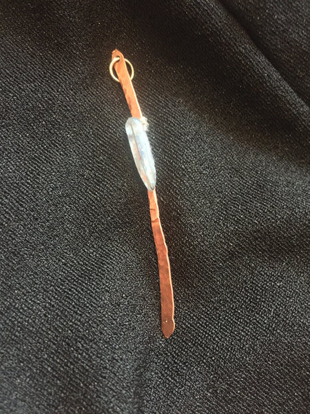 Kyanite Copper Pendant Hammered Metal Jewelry