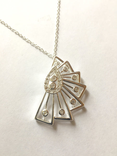 Sterling Silver Victorian Style Pendant