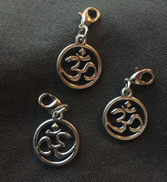 3 pack OM Keychain Charms Lot of 3 Buddhist Meditation Spiritual Jewelry