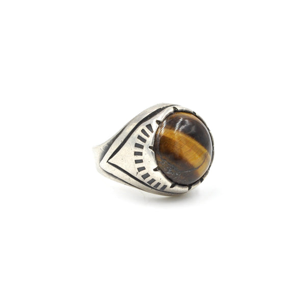 Vintage Taxco Tiger's Eye  (.925) Size 7.25