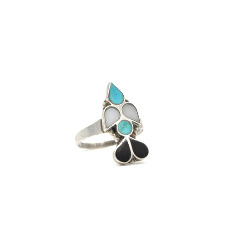 Vintage Zuni Inlay Sterling Ring (925) Size: 8.25