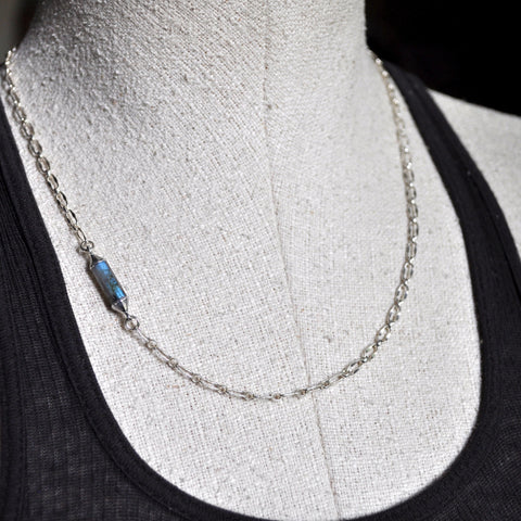 labradorite tube chain