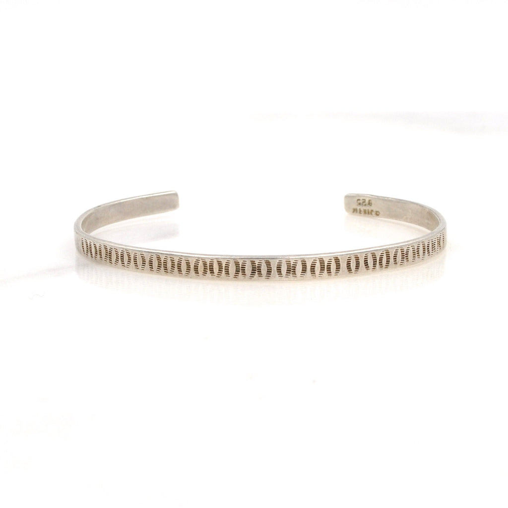 Crescent Stamped Sterling Cuff (.925)