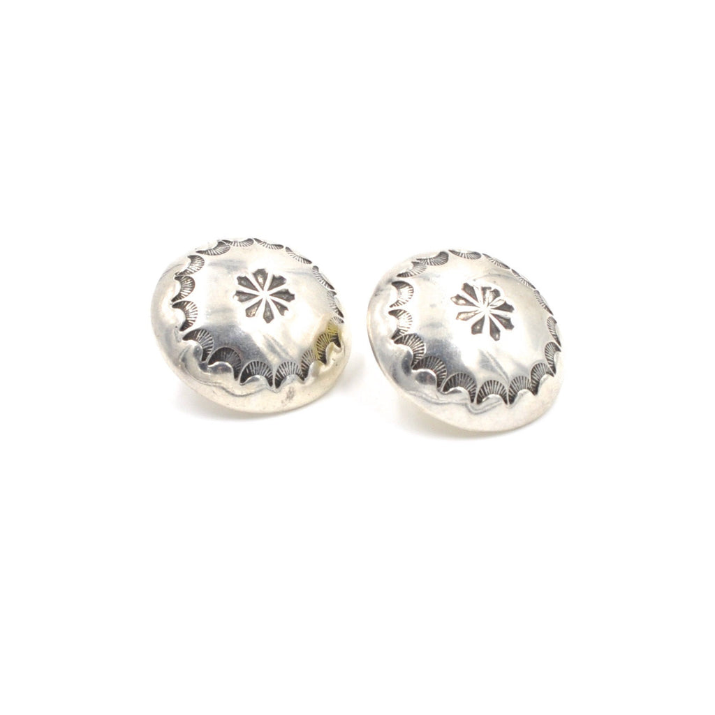 Estate Vintage Navajo Style Sterling Post Earrings (.925)