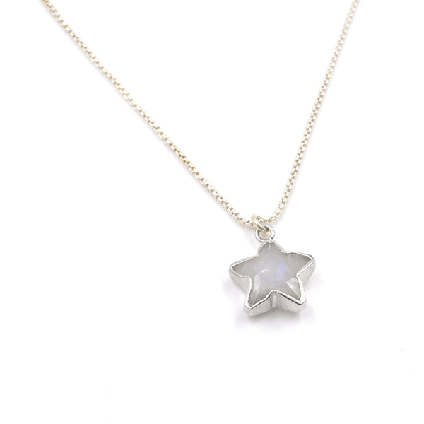 moonstone star necklace