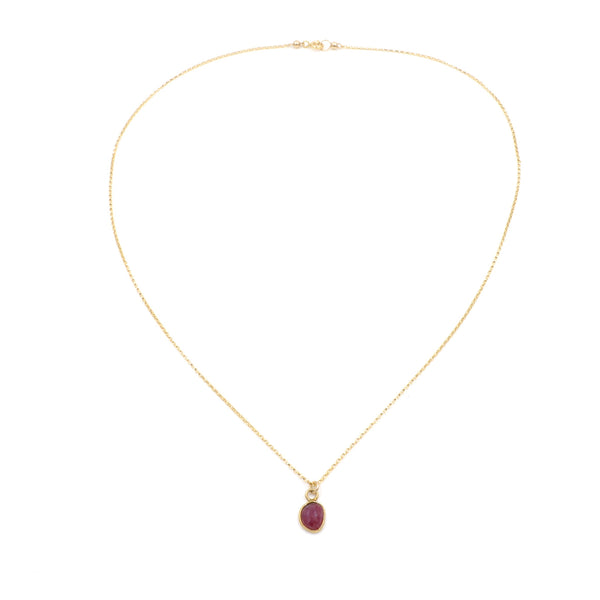 petite ruby necklace