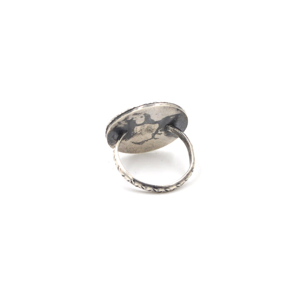 OOAK Tourmalated Quartz Shadow Ring