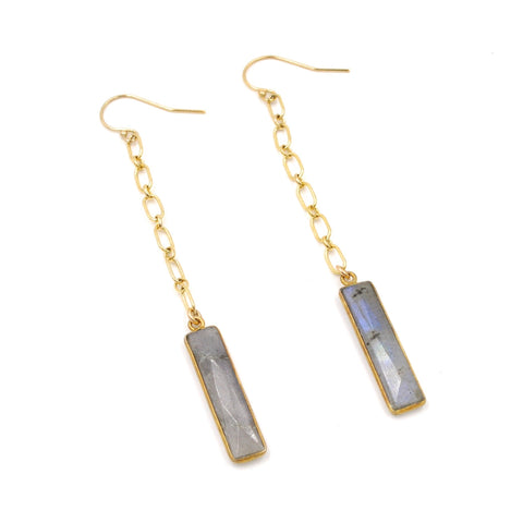 labradorite bar earrings