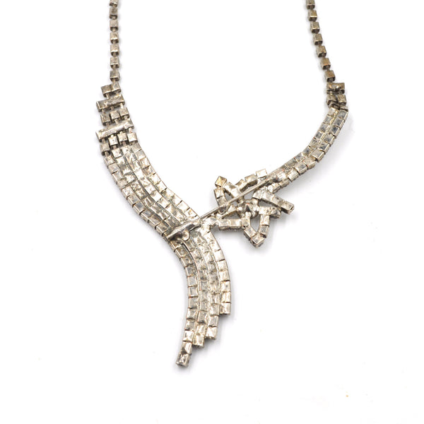 Vintage Shooting Star Rhinestone Necklace