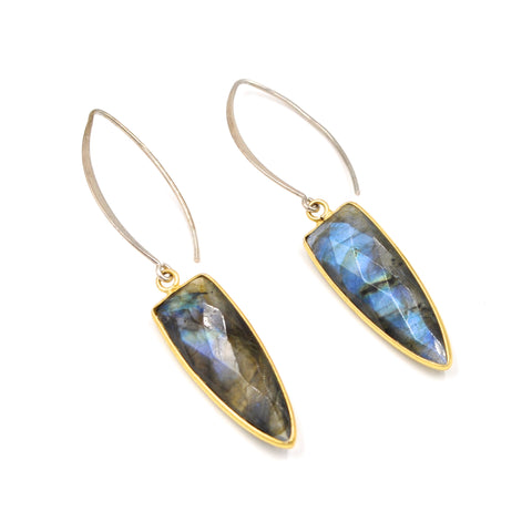 moderne labradorite earrings