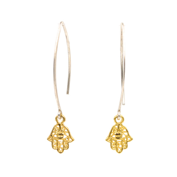 hamsa earrings (925)