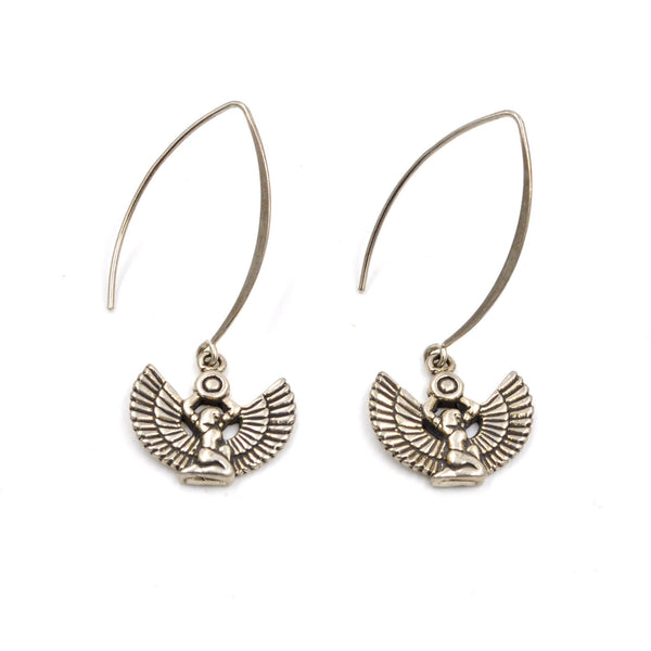 sterling goddess earrings