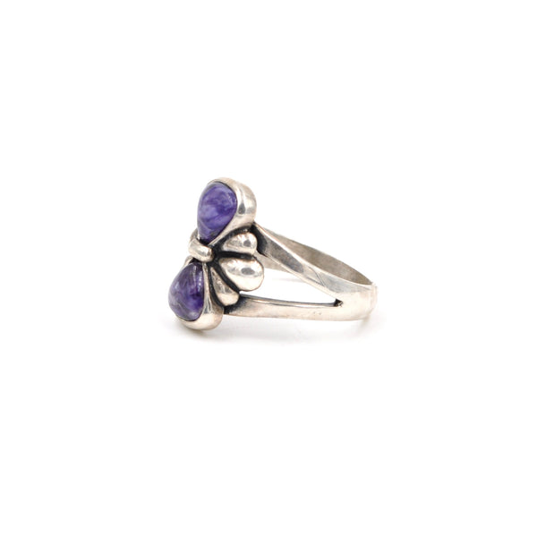 Vintage Sterling Silver Charoite Ring by Relios, Inc. (925) Size: 7