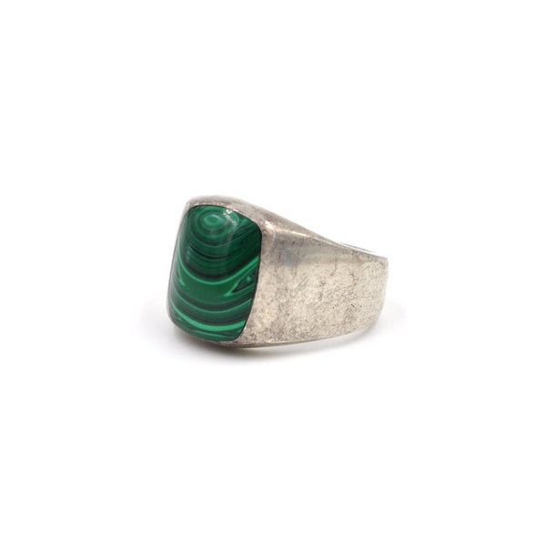 Vintage Taxco Malachite Inlay Ring (.925) Size: 10.25