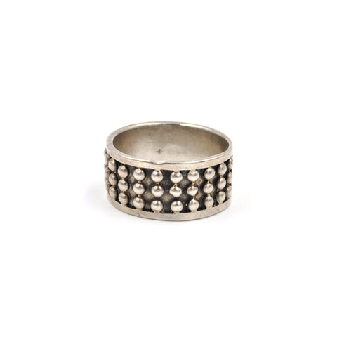Sterling Dot Band - Size: 9.75