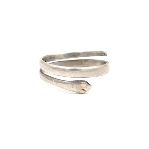 Antique Wrap Snake Sterling Silver Ring (.925) Size: 15 (XL)
