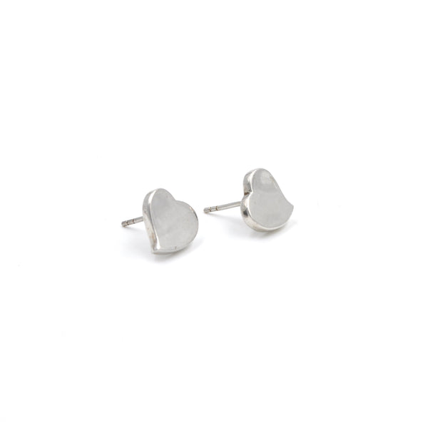Sterling Silver Heart Studs (925)