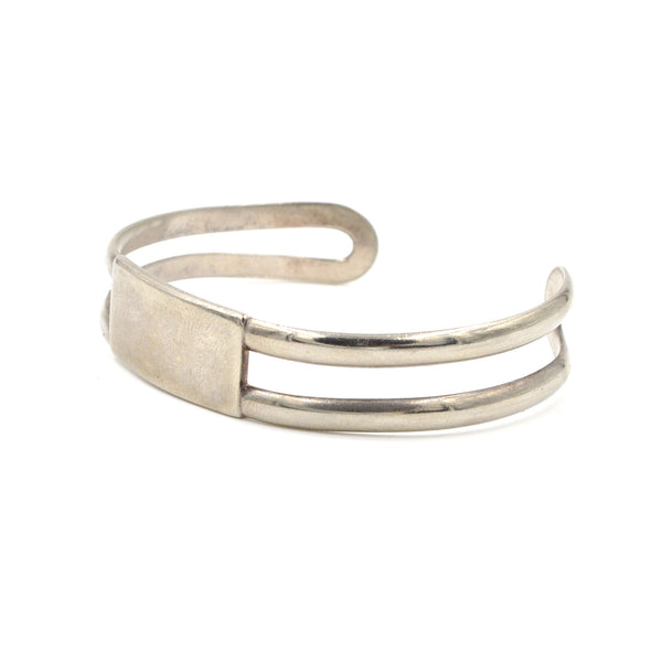 Vintage Sterling Silver ID Cuff (.925) - Engravable Cuff