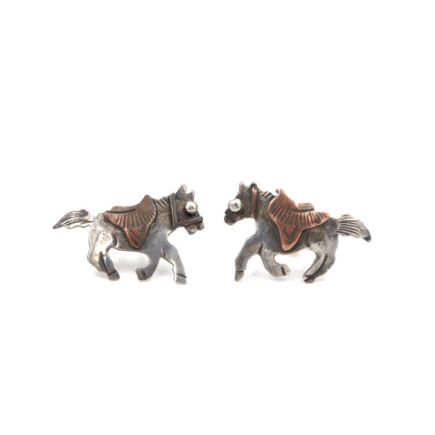 Brass & Sterling Horse Studs