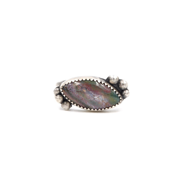 Montana Agate Burled Ring (925)