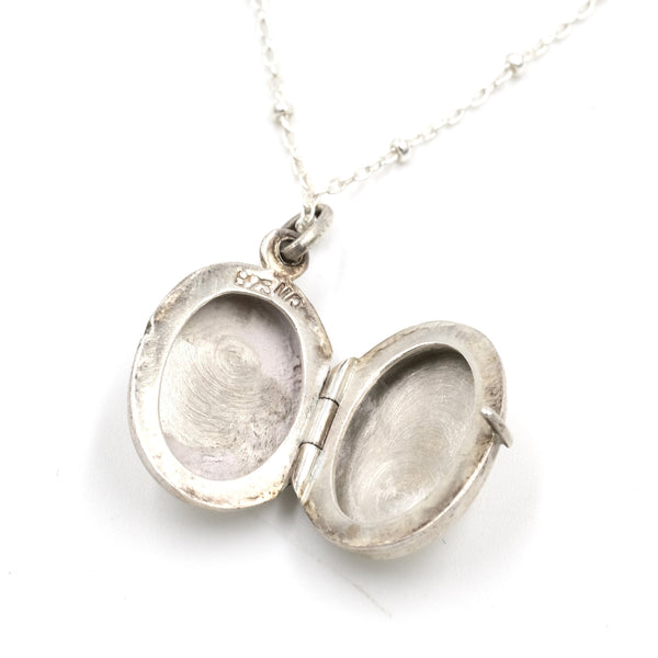 Etched Sterling Silver Locket