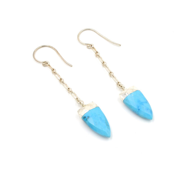 spear chain drop earrings