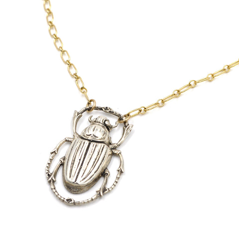 large scarab necklace