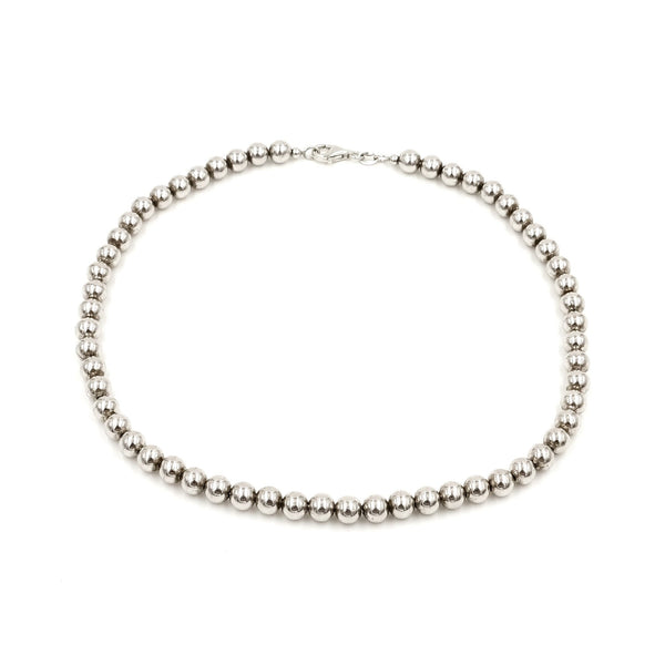 Sterling Bead Necklace 14.25""