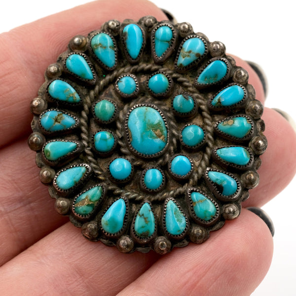 Turquoise Petit Point Pin