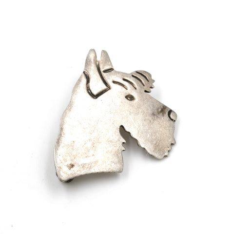 Sterling Terrier Pin by Silverbird