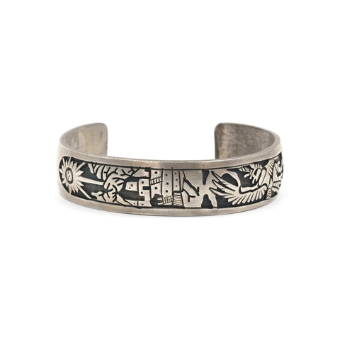 Sterling Silver Hopi Eagle Dancer Cuff