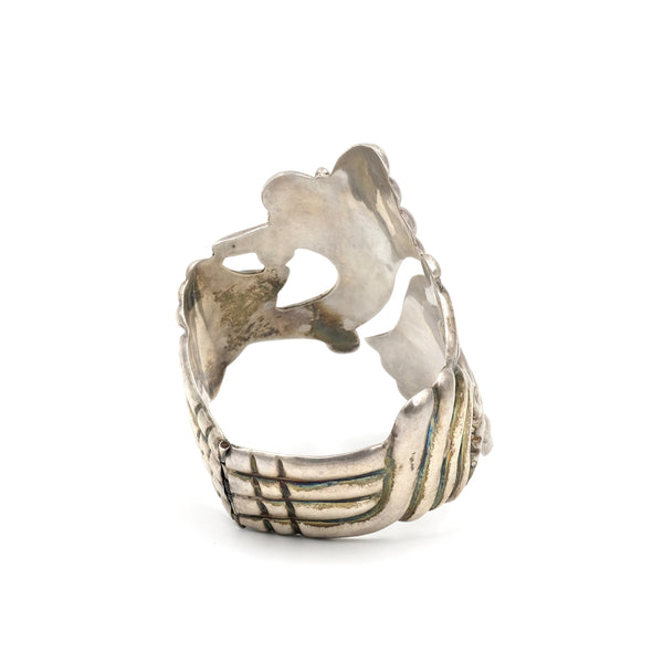 Vintage Taxco Sterling Clamper Cuff