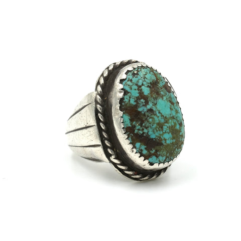 1960s Turquoise Sterling Ring // Size: 6.5