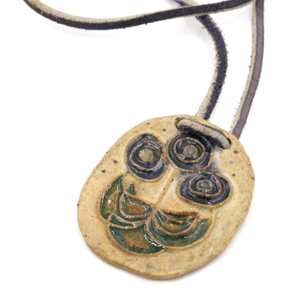 Ceramic Flower Pendant Necklace