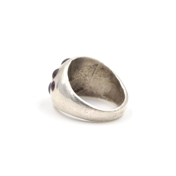 Sterling Silver Inlay Dome Ring // Size: 7.5