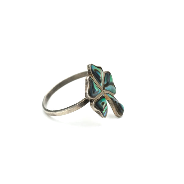 Abalone Shamrock Ring