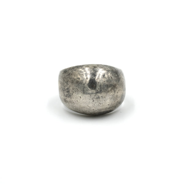 1970's Smooth Sterling Silver Dome Ring // Size: 8.5
