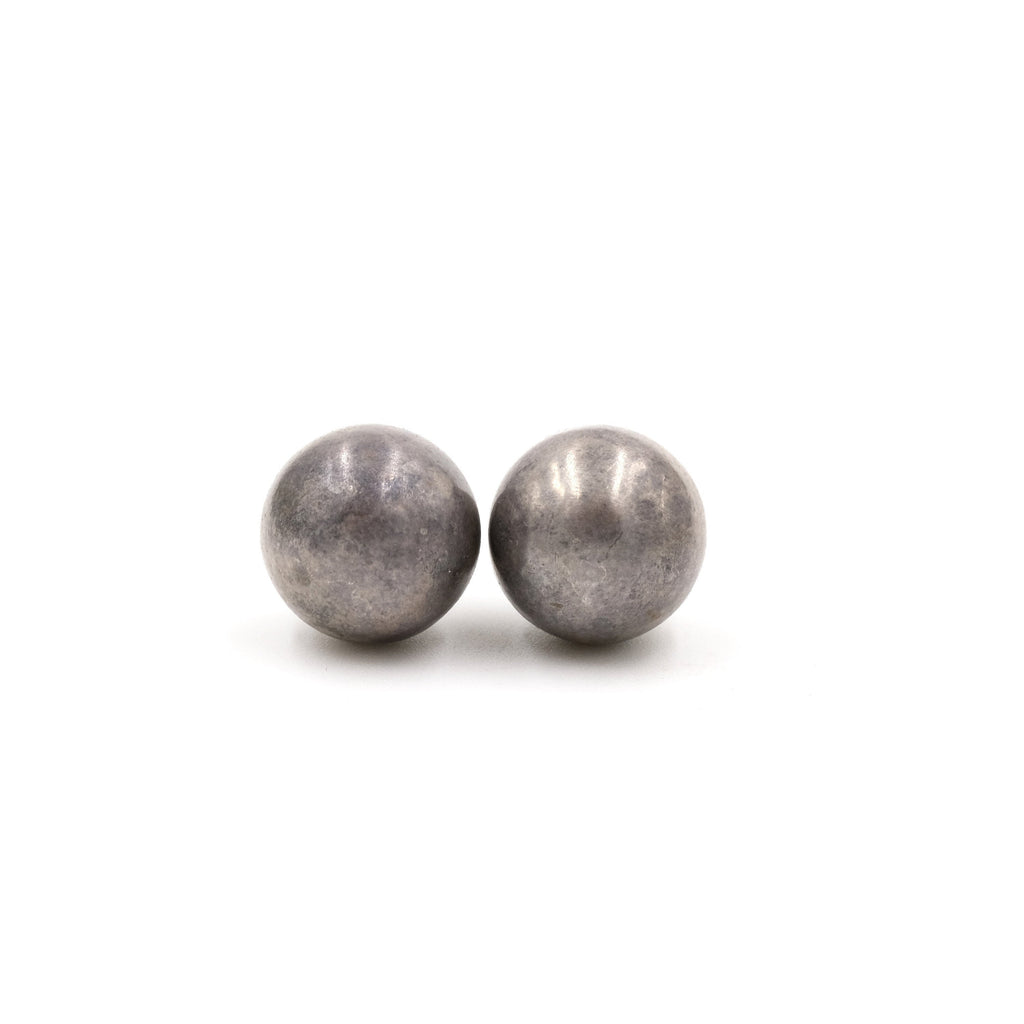 Vintage Large Sterling 13mm Ball Studs