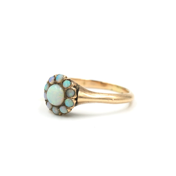 Antique 14Kt Gold Opal Ring // Size: 6.75