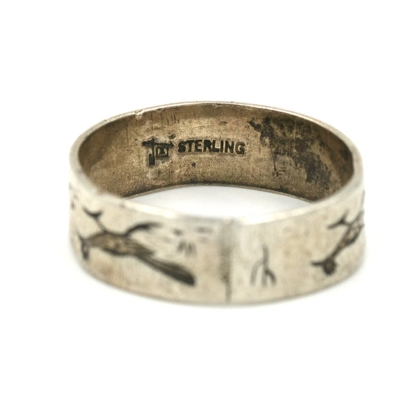 1960s Bell Trading Post Roadrunner Ring // Size: 6.5