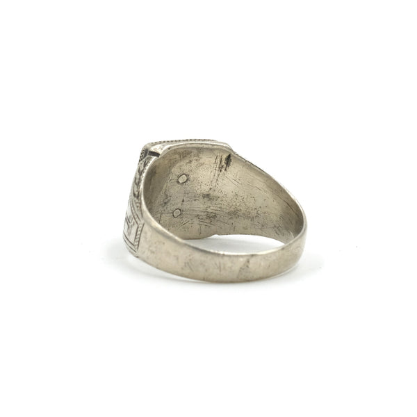 Sterling Sailors Signet Ring // Size: 8.75