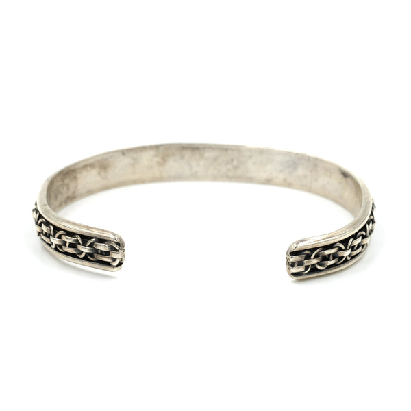 1980s Heavy Braided Sterling Cuff