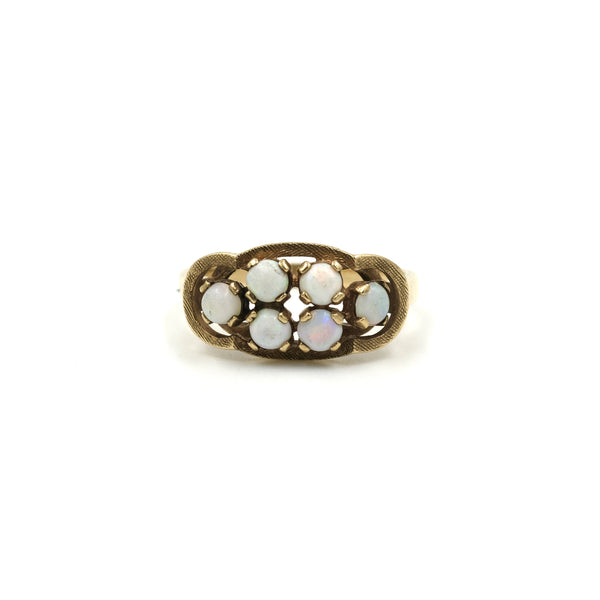 1950s 10Kt Gold Opal Ring // Size: 6.75