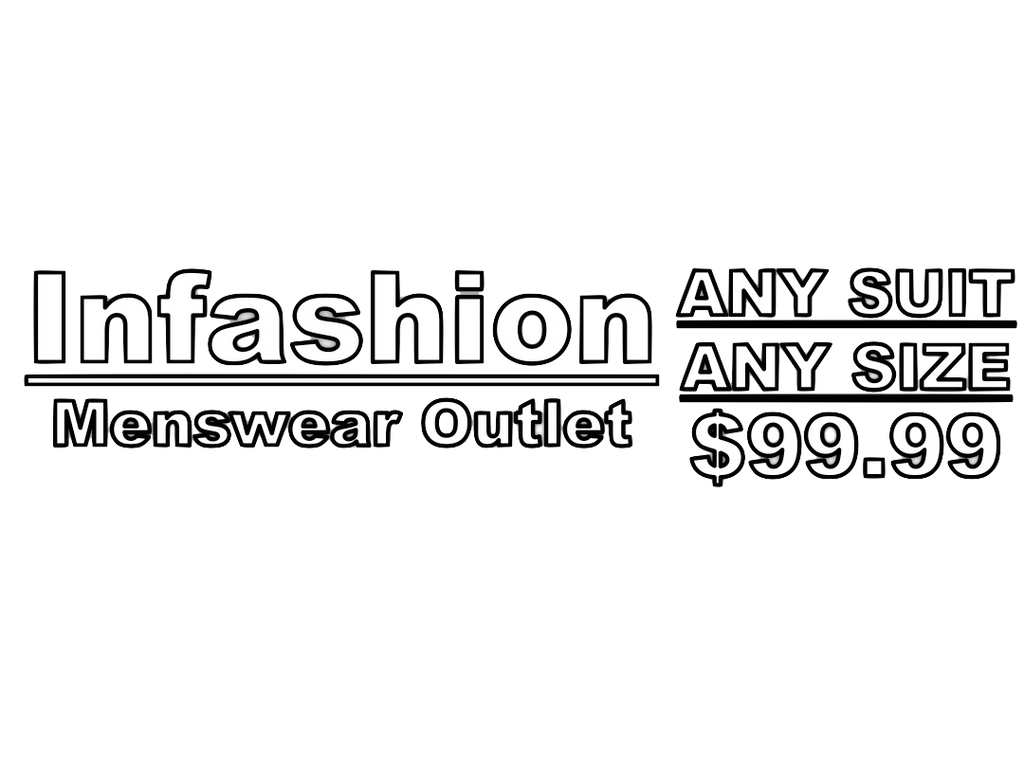 Any Suit Any Size $99.99