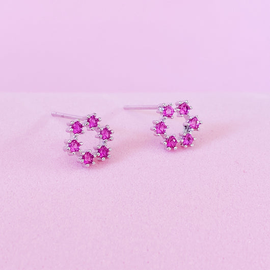 Pinkcircle Earrings
